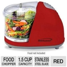 Red Kitchen Mini Food Chopper – Color your kitchen Specialty Appliances, Small Appliances, Best Food Processor, Food Processor Recipes, Red Kitchen Accessories, Food Chopper, Mini Foods, Food Network Recipes, Dishes