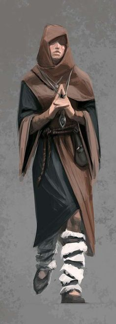 Concept art of Female Mage Apprentice Robes from The Elder Scrolls V: Skyrim by Ray Lederer