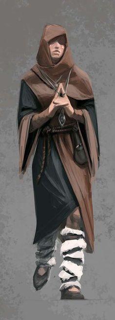 Concept art of Female Mage Apprentice Robes from The Elder Scrolls V: Skyrim by Ray Lederer