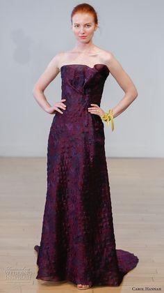 carol hannah 2017 bridal strapless straight across neckline full embellishment purple color sheath wedding dress v back sweep train (azalea) mv