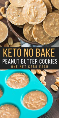 These Keto No Bake Peanut Butter Cookies are just one net carb each and can be made with just 10 minutes of prep! This is the ultimate easy low carb keto dessert!  #keto #lowcarb