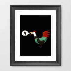 Chicken life Framed Art Print Promoters - $33.00