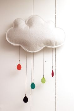mobile, cloud, nuage, diy, kids room