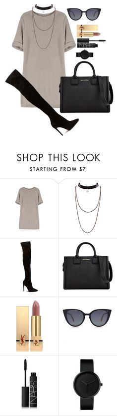 """Untitled #1598"" by fabianarveloc on Polyvore featuring Karl Lagerfeld, Yves Saint Laurent, Fendi and NARS Cosmetics"