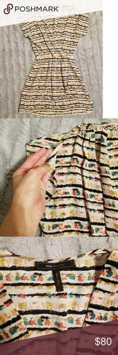 BCBG Max Azria Dress Excellent condition!  Beautiful print. Split sleeves BCBGMaxAzria Dresses