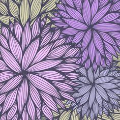 A gorgeous way to add color your space - Purple Dahlia - Gabriella Urrutia - $65.00 #rug #homedecor
