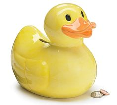 Money Banks product by Burton & Burton – Adorable Yellow Duck Piggy Bank Great Gift Item