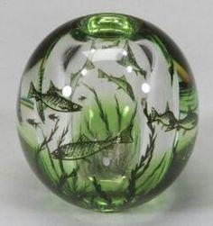 Orrefors Fish Graal Glass Vase