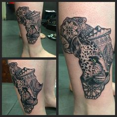 Leopard face in Africa by Joanne #devilsown #devilsowntattoos #tattoo…