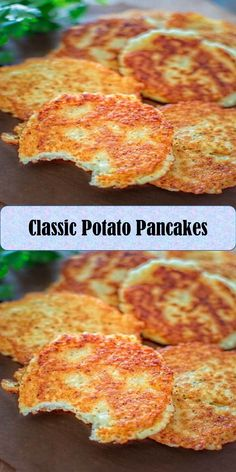 Classic Potato Pancakes #Classic #Potato #Pancakes Potato Pancakes, Best Vegan Recipes, Juice, Roast, Tacos, Potatoes, Breakfast, Sweet, Food