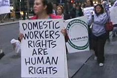 Domestic Workers United is an organization of Caribbean, Latina and African nannies, housekeepers, and elderly caregivers in New York, organizing for power, respect, fair labor standards and to help build a movement to end exploitation and oppression for all.
