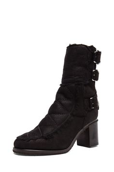 Laurence Dacade Achille Shearling Bootie in Black | FWRD