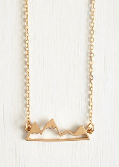 This mountain range necklace — $14.99