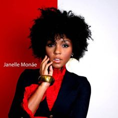 Janelle Monae short natural hairstyle