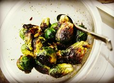 Gotta love it once it's time to grill again!  Brussels sprouts in Persian lime olive oil, Greek oregano and S  Delicious!