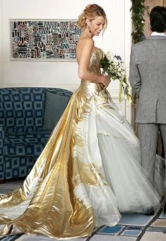 Blake Lively in Georges Chakra haute couture wedding gown!