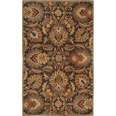 Art of Knot Repton Chocolate Wool Area Rug, Brown