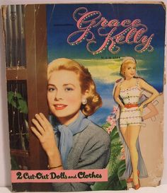 Grace Kelly Vintage 1950s MGM Star Whitman Paper Doll Set Book