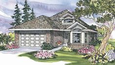 Springdale 30-155 - Narrow Lot Home Plans from Associated Designs
