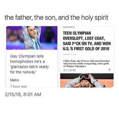 Y'know what? I'm really proud of our generation in these Olympics. They're slaying and aren't afraid to be themselves while doing it.