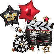 Hollywood Party Balloons, Hollywood Theme Balloons