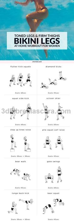 See more here ► www.youtube.com/... Tags: how can i lose my weight, weight loss eating plan, clenbuterol for weight loss - Build shapely legs and firm up your thighs with this bikini body leg workout for women! A set of 10 exercises to target your inner and outer thighs, glutes, hips, hamstrings, quads and calves, and get your legs toned and ready for summer! #exercise #diet #workout #fitness #health #diet #dieting #lowcalories #dietplan #excercise #diabetic #diabetes #slimming #weightloss…