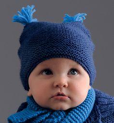Modèle bonnet à glands layette