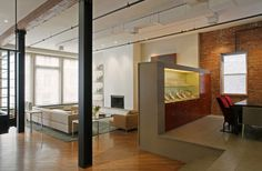 Contemporary Renovation of a Spacious Apartment in New York: JW/G Loft | Freshome