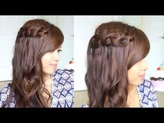 ♥Tutoriales♥ Knotted Waterfall Braid / Trenza de Cascada en Nudos - YouTube