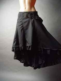 Victorian Steampunk Goth Burlesque Gypsy Peasant Ruffled Petticoat fp Skirt 2XL