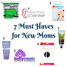 7 Must Haves for New Moms. Products and free resources I hadn't heard much about but that SAVED. MY. LIFE. as a new parent.