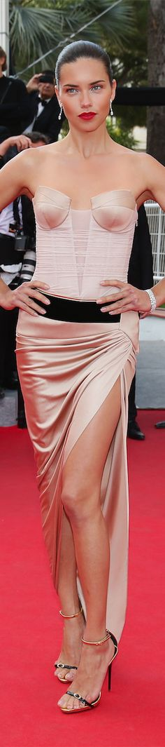 ➳ c a l l m e f a m o u s {Ok, you are indeed famous!} Adriana Lima in Alexandre Vauthier at the Cannes Film Festival 2014