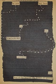Follow the Dots | Black Out Poetry | C.B. Wentworth