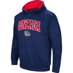 Colosseum Men's Gonzaga Bulldogs Blue Fleece Hoodie, Size: Medium