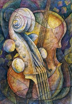 Adam's Cello by Susanne Clark ~ abstract