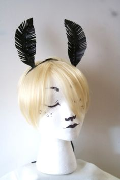 Black Moth Antennae Headband / Cosplay / #Fairy / #Insect #Costume / Butterfly,  View more on the LINK: http://www.zeppy.io/product/gb/3/213018343/