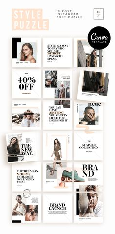 Discover recipes, home ideas, style inspiration and other ideas to try. Instagram Design, Instagram Feed Layout, Instagram Grid, Instagram Post Template, Free Instagram, Instagram Posts, Style Instagram, Instagram Collage, Theme Template