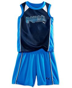 Puma Little Boys' 2-Piece Puma Tank & Shorts Set