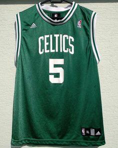0cfb40a6d NBA Boston CELTICS Jersey Garnett 5 Adidas XL age 18 - 20 green
