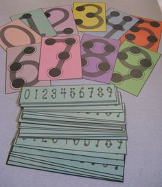 Learning Games---good ideas to make Touch math numbers
