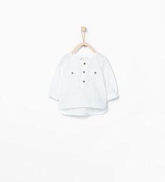 ZARA - MINI - Mao collar shirt