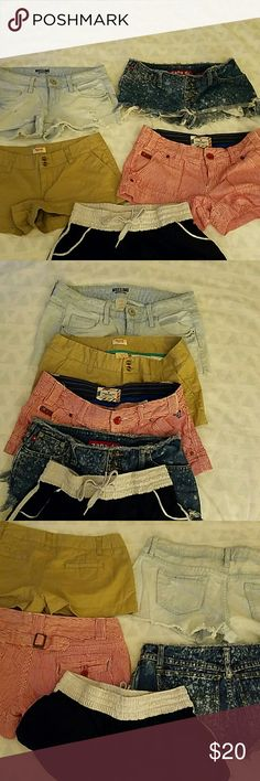 Selling this 4 pairs of denim shorts in my Poshmark closet! My username is: cheryl1270. #shopmycloset #poshmark #fashion #shopping #style #forsale #American Eagle Outfitters #Pants