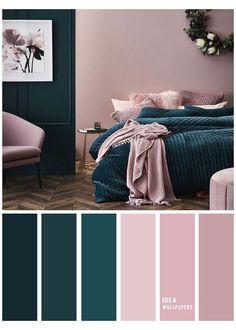 Blush Bedroom, Ikea Bedroom, Bedroom Furniture, Teal Bedroom Decor, Teal Bedrooms, Teal Home Decor, Best Bedroom Colors, Best Color Schemes, Living Room Color Schemes