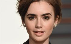 Download wallpapers 4k, Lily Collins, Hollywood, 2018, amertican actress, photoshoot, portrait, beauty