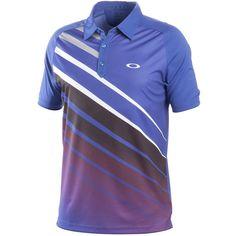 Oakley Tiger Stripe Golf Shirt Spectrum Blue
