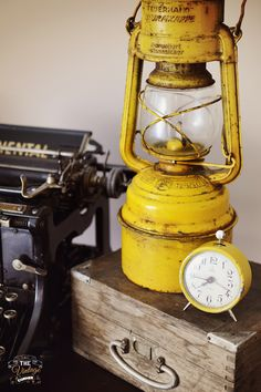Old yellow lamp