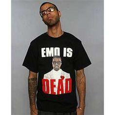 """EMO is dead"" tee"