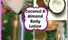 How to make coconut almond body lotion