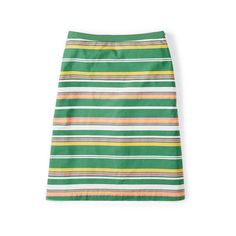 Boden Printed Cotton A-line Skirt ($62) ❤ liked on Polyvore featuring skirts, feather skirt, flower print skirt, boden skirts, stripe skirt and striped skirt