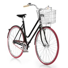 A bicycle in its purest form, NORRSKEN is a Swedish designed urban commuter with a sleek matt black frame, pink tires and chain, cork. Bicycle Shop, Bicycle Art, Build Your Own Bike, I Love Fashion, Design Your Own, Cool Stuff, Stuff To Buy, Pure Products, My Style